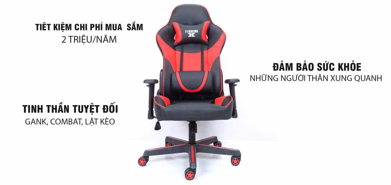 Lợi ích – Ghế Chơi Game F1 racing X Red F1 racing X – Thiên minh