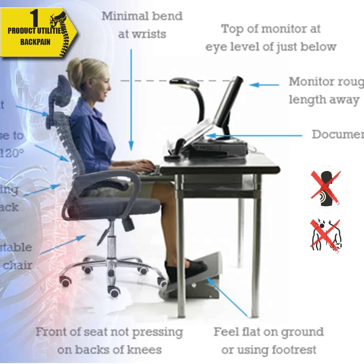 Tư Thế Ngồi làm việc – Ghế EB2-Normaline – Ghế Xoay Lưới Văn Phòng – Thiên Minh Furniture