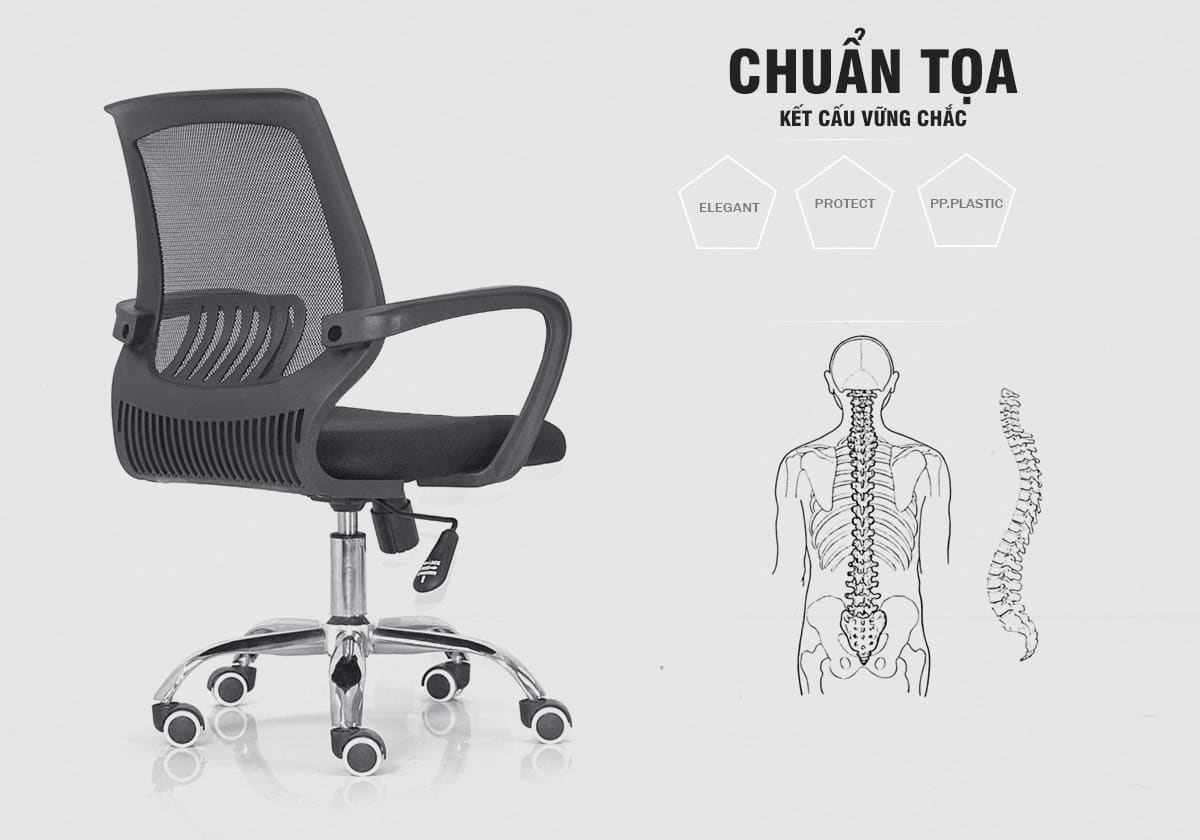 Tư thế ngồi – Ghế PL - Normaline – Ghế Văn Phòng – Thiên Minh Furniture