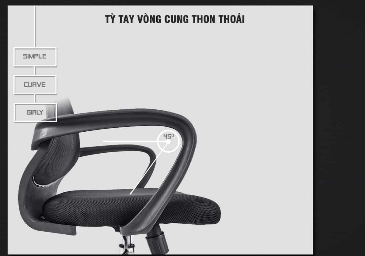Tay Ghế Nhìn Ngang – Ghế PL - Normaline – Ghế Văn Phòng – Thiên Minh Furn